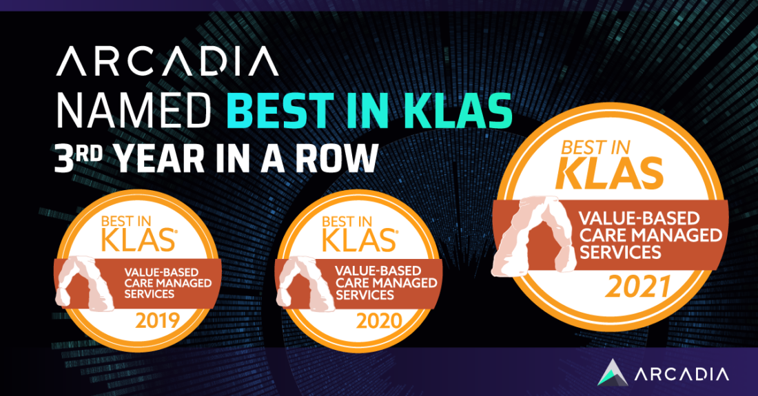 Arcadia awarded Best in KLAS for third consecutive year in 2021